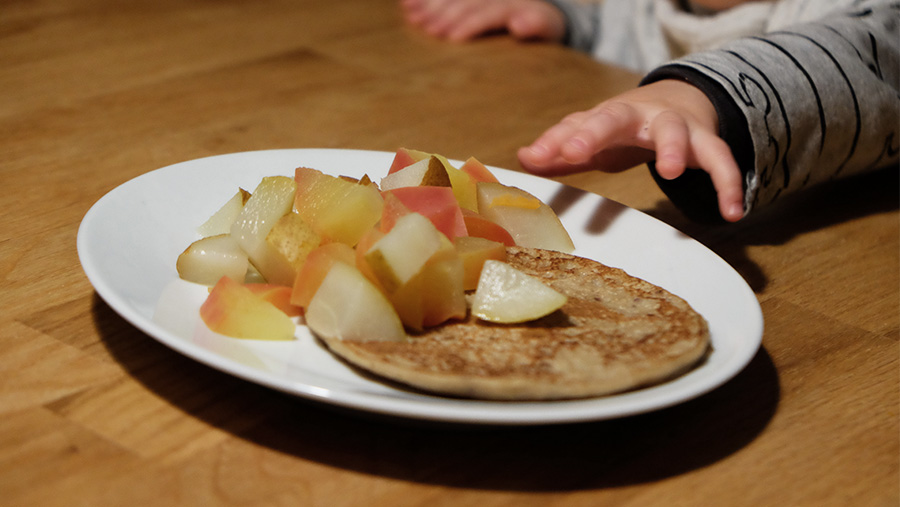 Rezept_Vegane Pancakes_Haferflocken Banane_Alternative zu Abendbrei_Baby_ernaehrung-bewegt-dich