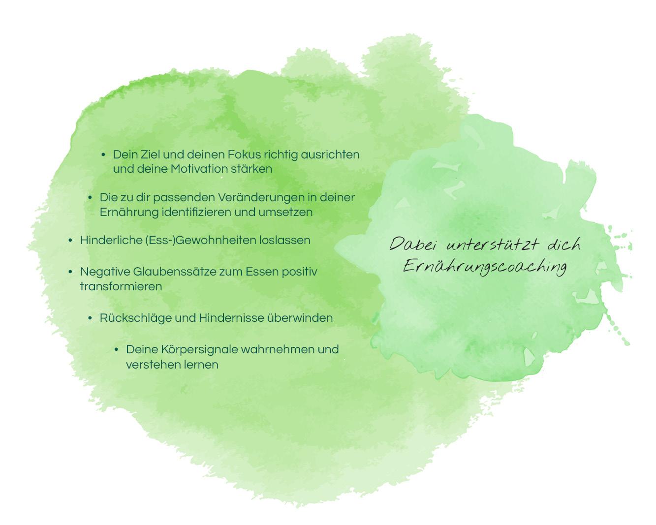 Wie dich Ernährungscoaching unterstützt - Übersicht
